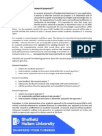 What Makes a Good Research Proposal