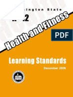 Health Fitness State Standards