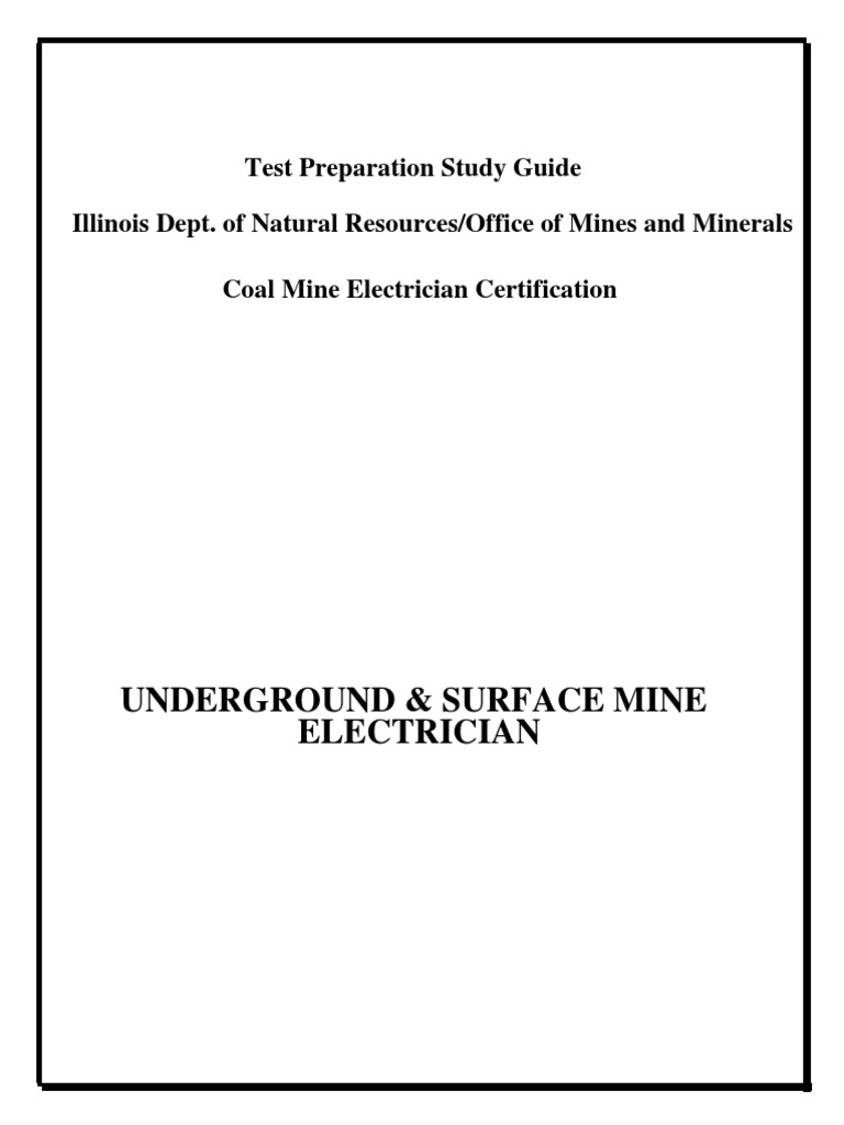 Mine Electrical Study Guide | Series And Parallel Circuits | Electric  Current