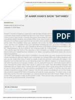 Hindus Beware of Aamir Khan's Show _satyamev Jayate_ _ Reality Reveal Blog on Speakingtree