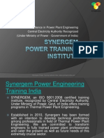 Synergem Power Engineering Training in India