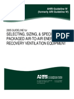 2005 AHRI Guideline for Selecting, Sizing & Specifying Packaged Air-To-Air Energy Recovery Ventilation Equipment
