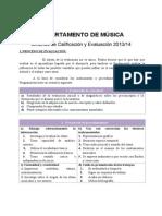 2 Criterios de Calificación y Evaluación de Música