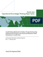 Credit Rating Methods for Public–Private Partnership Infrastructure Projects and Small and Medium-Sized Enterprises in South Asia