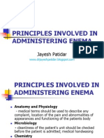 Administering Enema POWERPOINT  GIVING ENEMA TO PATIENT, FOR PATIENT WITH GASTROINTESTINAL DISORDERS ..  LECTURES, PRINCIPLES AND PROCEDURES