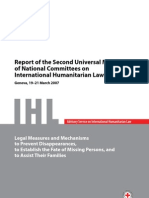 Report of the Second Universal Meeting of National Committees on International Humanitarian Law, March 19-21 2007