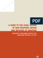 A Guide to the Legal Review of New Weapons, Means and Methods of Warfare