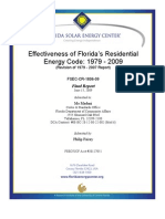 Effectiveness of Florida's Residential Energy Code 1979 - 2009