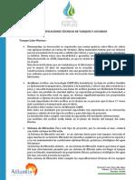 ESPECIFICACIONES TÉCNICAS DE ACUARIOS