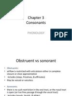 Consonants Chapter 3