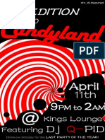 Candyland Party Poster