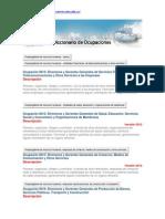 Diccionario de Ocupaciones