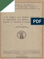 În jurul lui Mihai Viteazul Originea lui Mihai Viteazul după o cronică românească