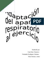 Adaptacion Del Aparato Respiratorio Al Ejercicio Fisico
