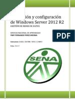 Manual Instalacion de Windows S2012