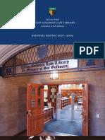 Yale Law Library biennial report 2007-2009