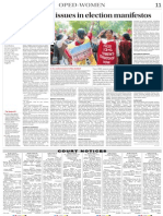 Vibhuti Patel the Tribune Women's Issues in Election Manifestos 25 March 2014 Page 11
