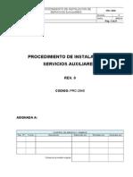 PRC-2040 - Procedimiento de Instalacion de Servicios Auxiliares.doc