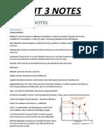 Economics Units 3+4 Notes