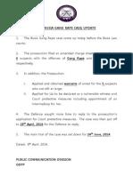 Press Release - Gang Rape Case in Busia Update