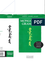 11 Mongolian Grammar (Fourth Revised Edition)