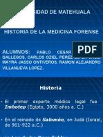 historia Medicina Legal