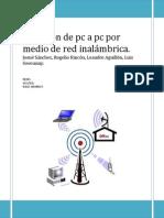 Conexión de pc a pc por medio de red inalámbrica practica 4