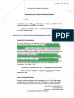 NSA Summary of Requirements Unders Section 501 of FISA