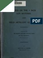 Notes on 3inch Gun Materiel