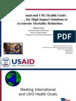 International and USG Health Goals