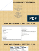 Brain and Meningeal Infections in Hiv - Radiologist's perspective.