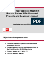 Trends in Reproductive Health in Russia