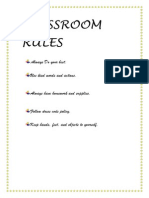 Classroom_rules for Primary and Secondary