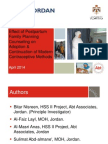 Effect of Family Planning Counseling Provided to Postpartum Women Before Discharge from Hospital on the Adoption and Continuation of Modern Contraceptive Methods, Nisreen Bitar - FP Integration with Health Services Panel 2