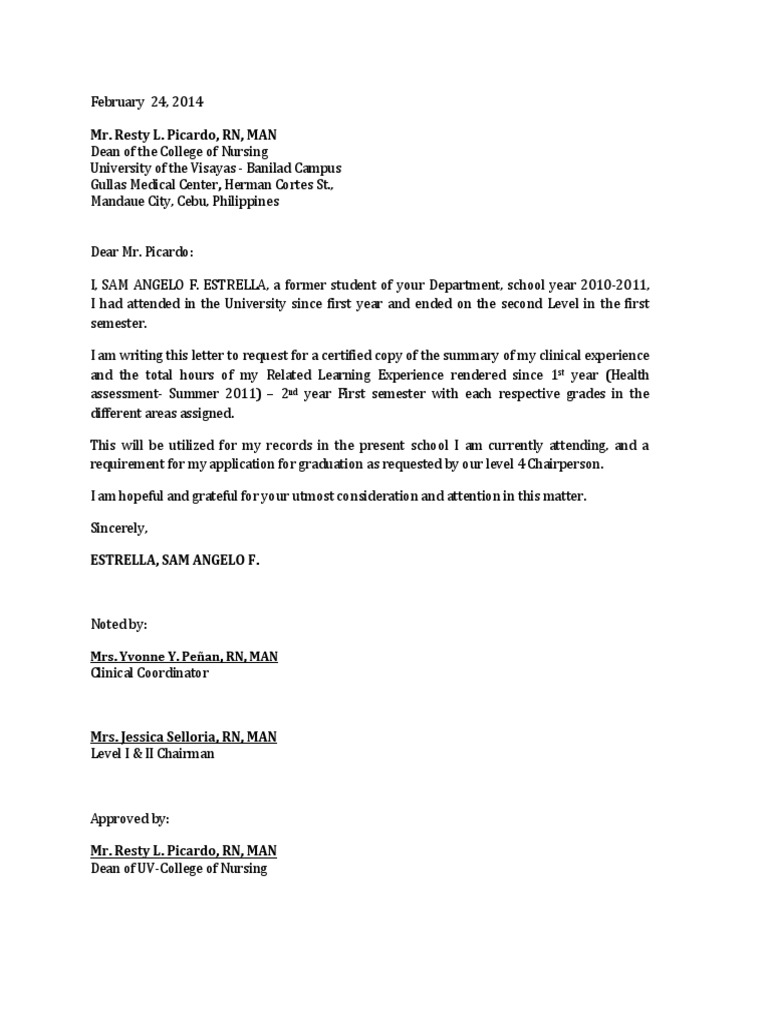 Request letter heading professional essay writers high for Head of department cover letter