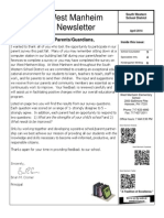 West Manheim April 2014 Newsletter
