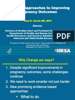Emerging Approaches to Improving Pregnancy Outcomes -- Dr. Hani Atrash, HRSA