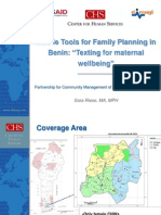 Mobile Tools for Family Planning in Benin