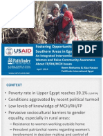 Fostering Opportunities in Rural Southern Areas in Egypt