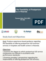 Providing Long-Acting, Reversible Contraception to Postpartum Women