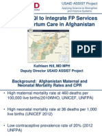 Integrating Family Planning into Postpartum Care Through Quality Improvement in Afghanistan, Kathleen Hill - Family Planning Integration with Health Services Panel 3
