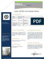 Vatral 125-150_Fire Protection Mortar_Technical Datasheet