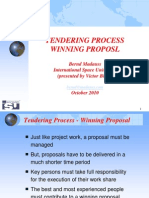 Victor Billig_Tendering Process