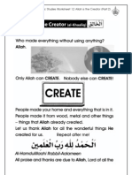 Grade 1 Islamic Studies - Worksheet 1.2 Allah is the Creator - Part 2