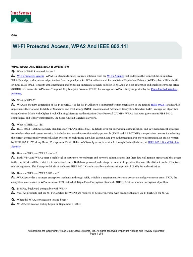 Cisco wpa wpa2 and ieee80211i wireless lan wireless access point 1betcityfo Gallery