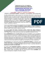 Comunicato Stampa 2013