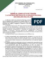 CGT Informa sobre el conflicto de Tragsa y la Sentencia que declara nulo el ERE