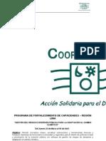 Curso - Taller Gestion Del Riesgo e Inversion Publica (ADMICCO - COOPERACIION) 20.03 Al 09.04