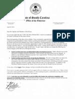 Gov, Nikki Haley letter the S.C. House on ethics reform