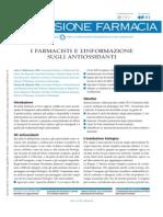 Antiossidanti e Farmacista